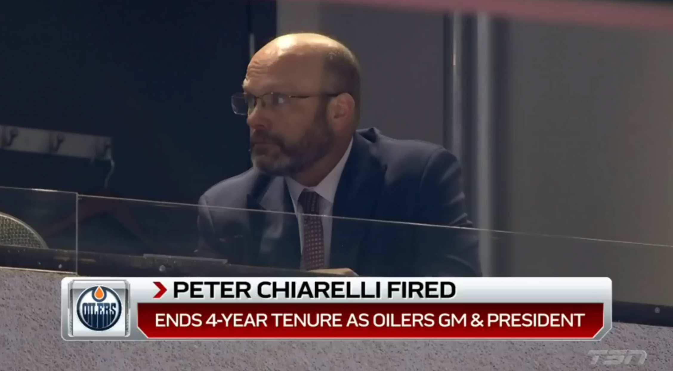 Oilers fire GM Chiarelli